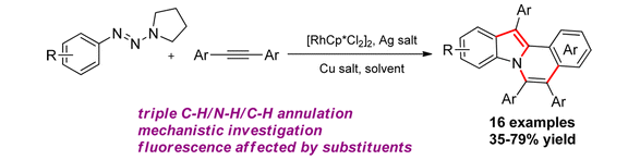 197.Synthesis of Indolo[2,1-a]isoquinolines via a Triazene-Directed C–H Annulation Cascade