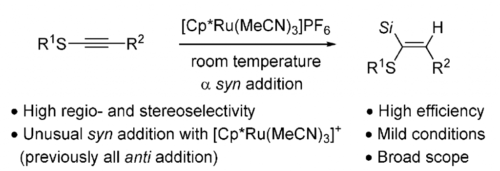 210. Highly Regio- and Stereoselective Hydrosilylation of Internal Thioalkynes under Mild Conditions
